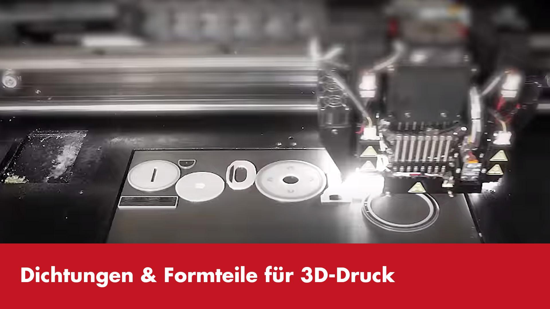 Vorschaubild Video Dichtungen und Formteile für 3D-Druck