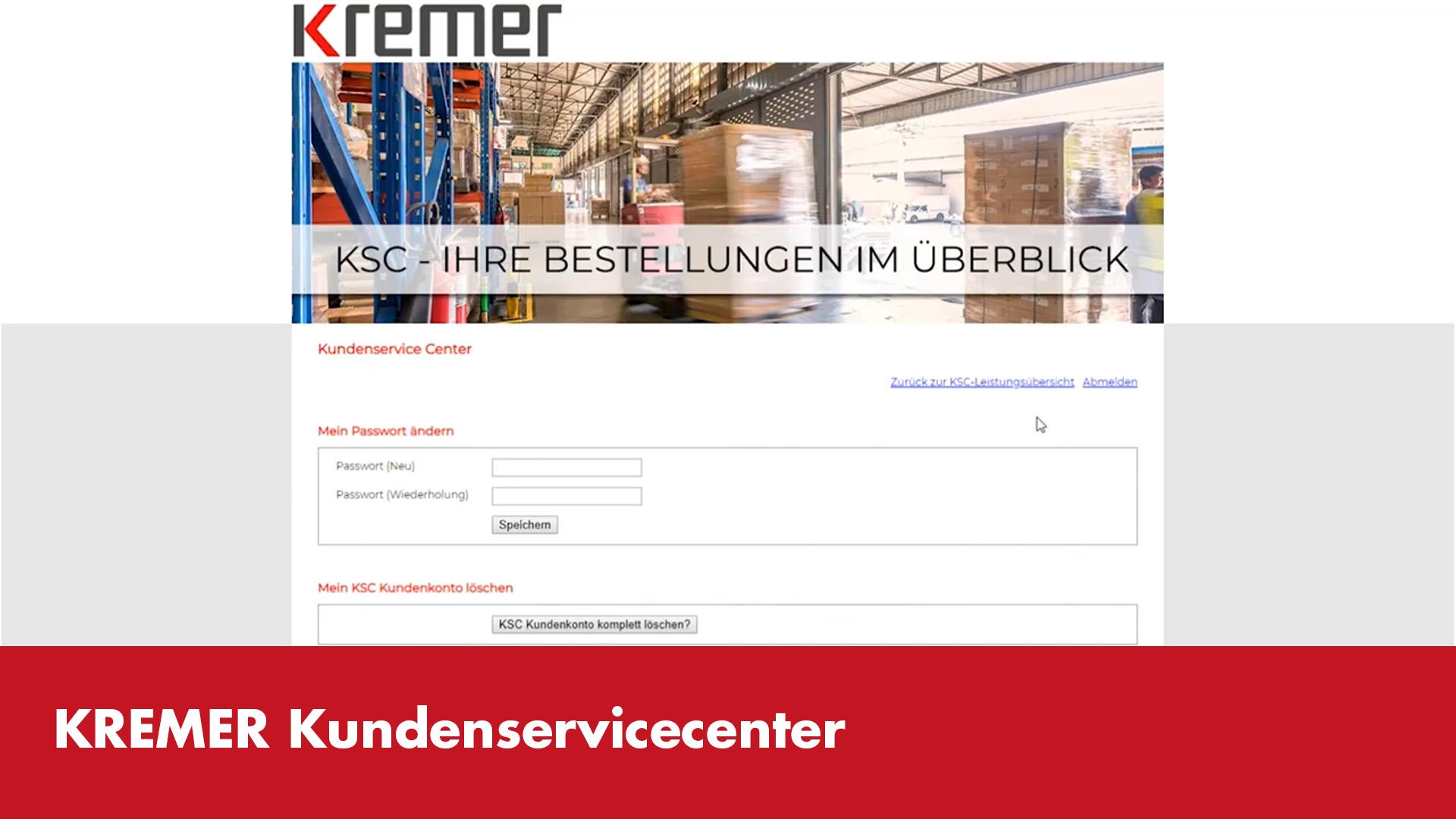 Video-Vorschaubild Kremer Kundenservicecenter
