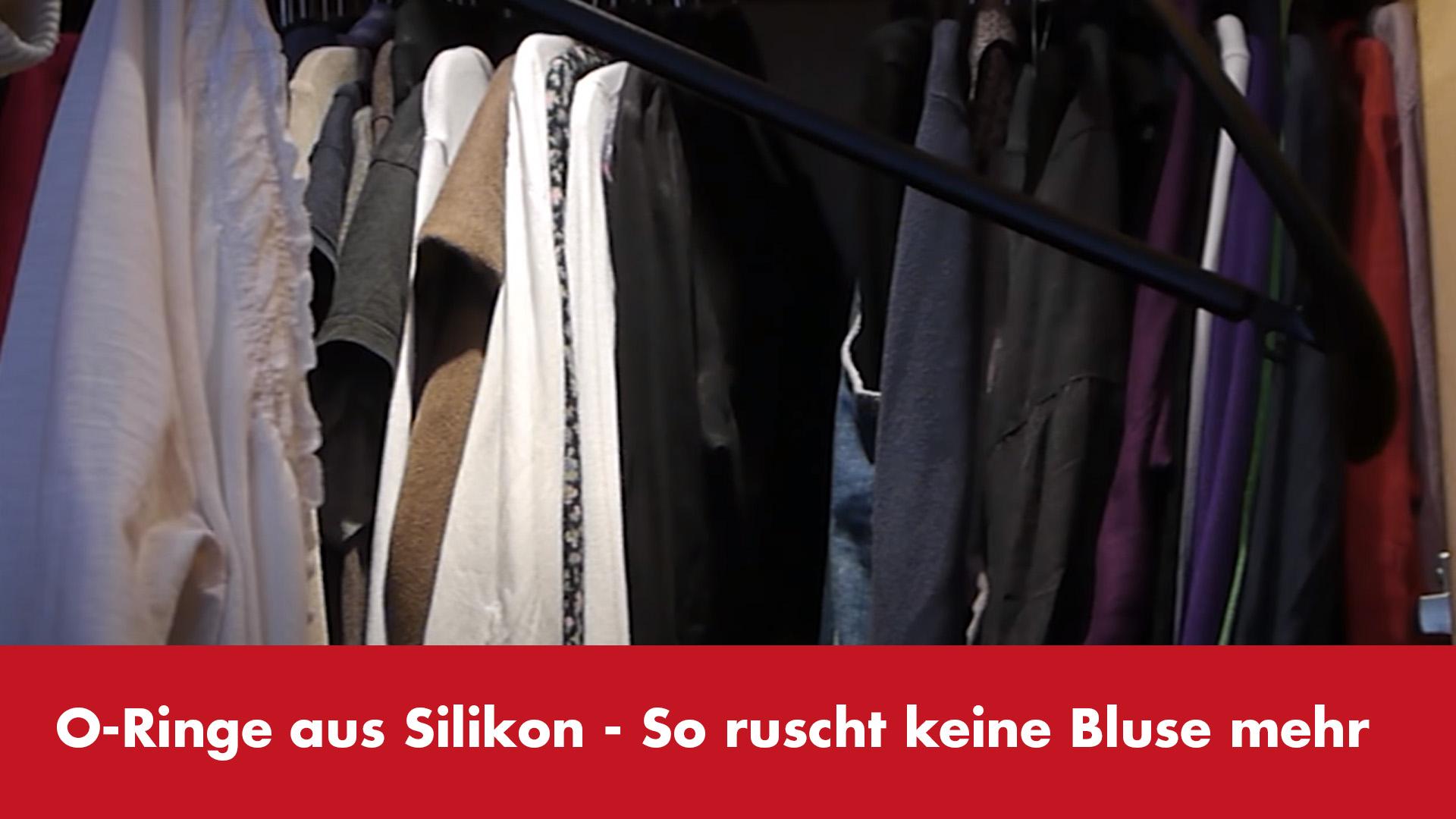 Video-Vorschaubild Silikon-O-Ringe auf Kleiderbügeln