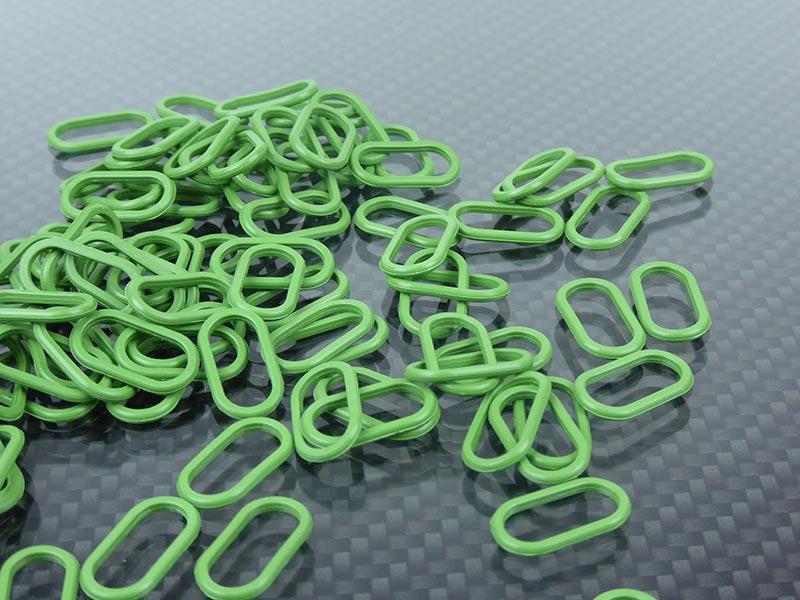 KREMER - Ovale Dichtungen aus FKM grün