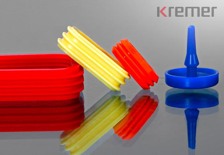 KREMER - Dichtungen aus Silikon in verschiedenen Farben