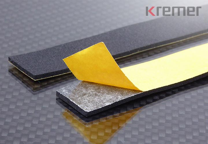 KREMER - Zellkautschukstreifen mit Selbstklebeband
