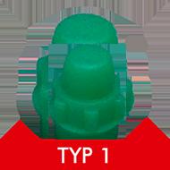 Formenschloss, Typ 1, klein, ohne Loch, grün