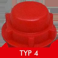 Formenschloss, Typ 4, groß, ohne Loch, rot
