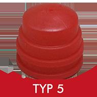 Formenschloss, Typ 5, groß, mit Loch, rot