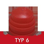 Formenschloss, Typ 6, mittel, mit Loch, rot