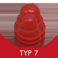 Formenschloss, Typ 7, klein, mit Loch, rot