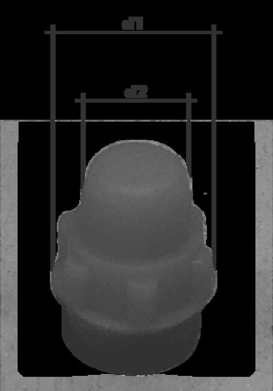 KREMER - Formenschloss Typ 1 klein, ohne Loch mit Bezeichnung