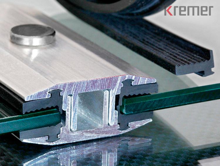 KREMER – Gummiauflageprofil aus EPDM für Laminatklemmen