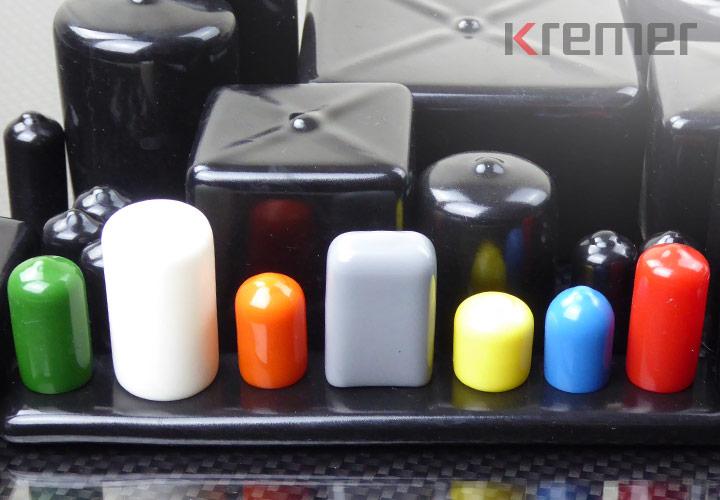 KREMER – Rund- und Rechteckkappen in acht Standardfarben