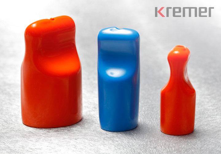 KREMER – Rundkappen mit Abziehlasche in rot und blau