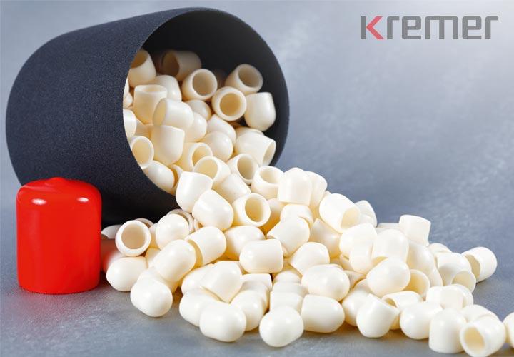 KREMER – Rundkappen in rot, schwarz und weiß