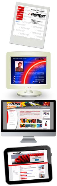 KREMER - Zeitgeist Website im Wandel