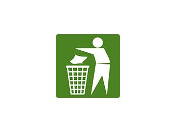 Nachhaltigkeit Entsorgung Icon