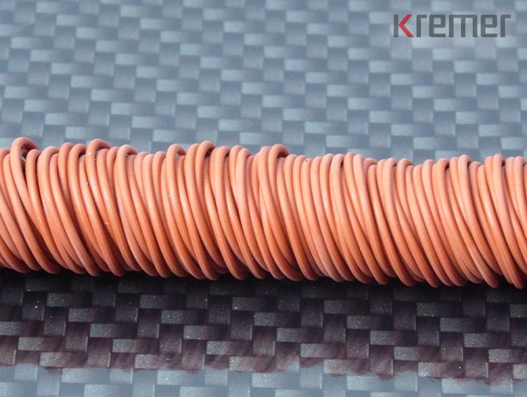 KREMER – Silikon, 70 Shore A, rot 22 x 1 mm
