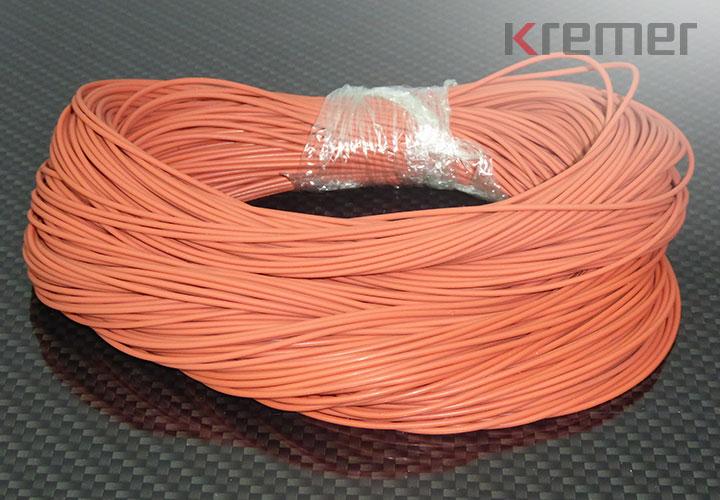 KREMER - Silikon, 70 Shore A, rot, 250 x 2,55 mm, gebündelt