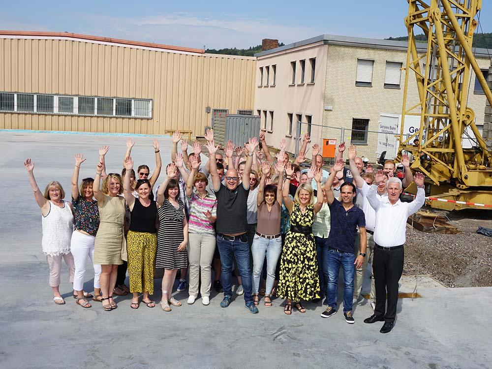 Kremer-Team auf Baustelle