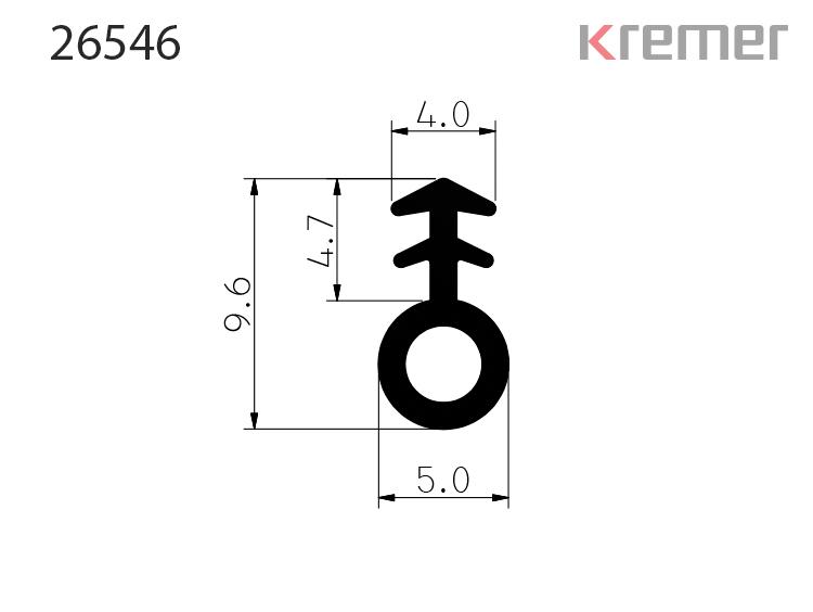 KREMER Profile: 26546 Einfräsdichtung