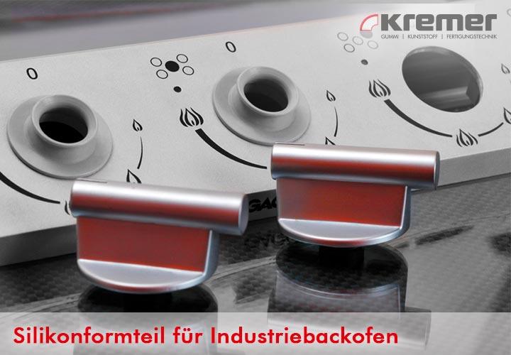 Für Industriebackofen geeignetes Silikonformteil