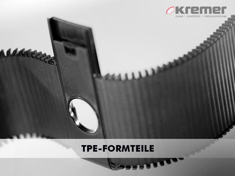 Formteile aus TPE: Flexibel, schweißbar und gehen gute Verbindungen mit Kunststoff ein.