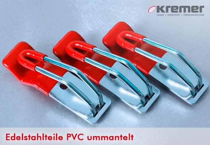 Edelstahlteil PVC ummantelt