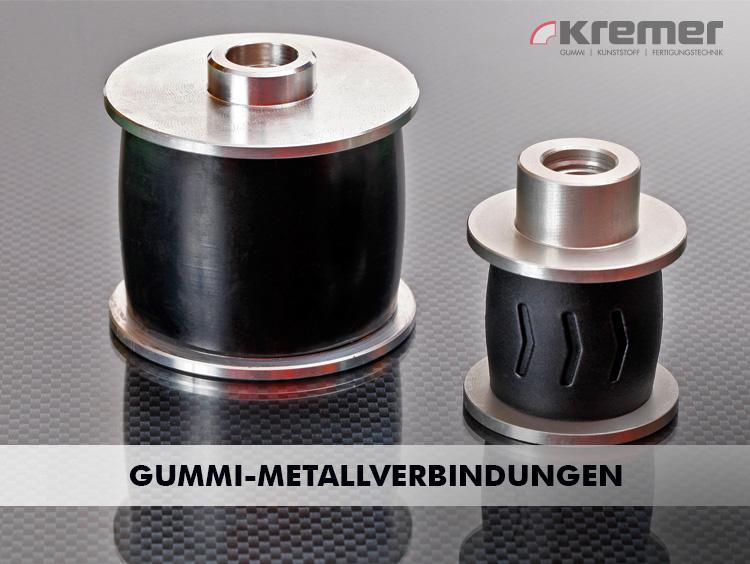 Von Gummi-Metallverbindungen sprechen wir bei Produkten, die aus Stahl- oder Aluminium Druckgussteilen und Produkten aus Gummi bestehen.