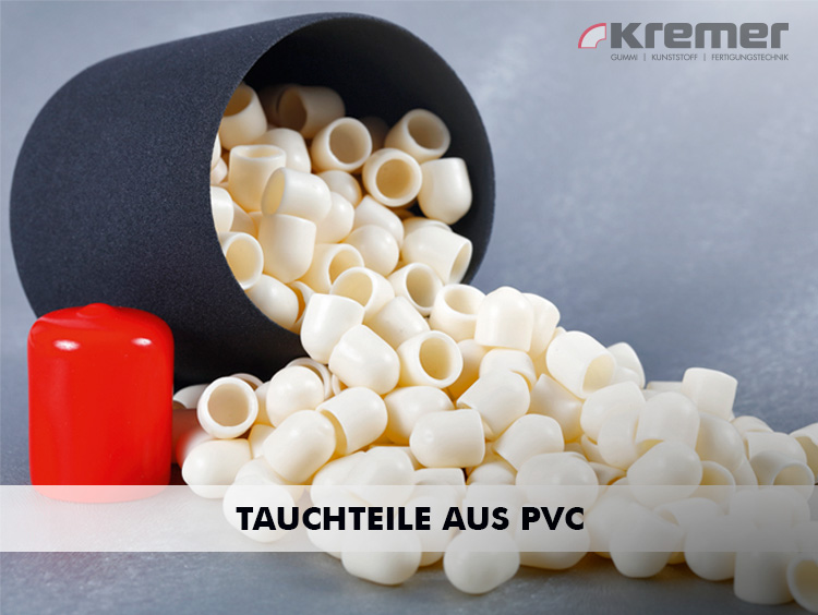 Tauchteile aus PVC dienen als Abdeckkappen für Zaunpfähle, Kantenschutz für Profilenden und Werkzeuge.
