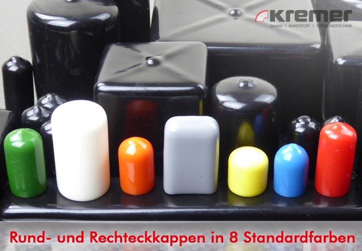 Rund- und Rechteckkappen in 8 Standardfarben, Wächtersbach