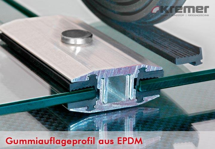 EPDM Gummiauflaeprofil für Lamminatklemmen