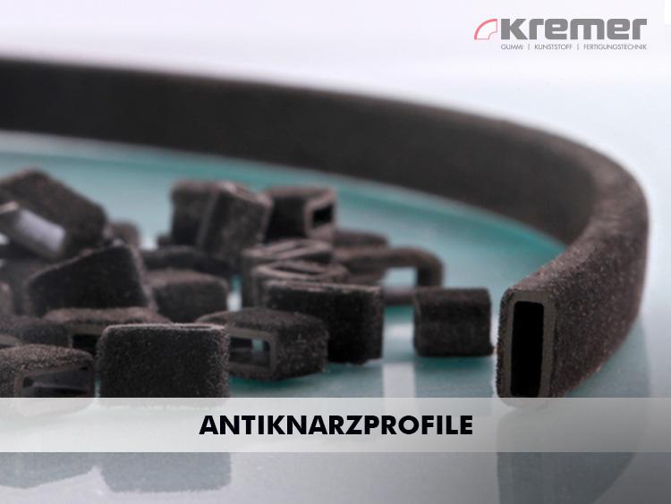 Um Geräusche zu vermeiden, die entstehen, wenn Kunststoff an Kunststoff reibt, werden Profile aus EPDM oder TPE eingesetzt.