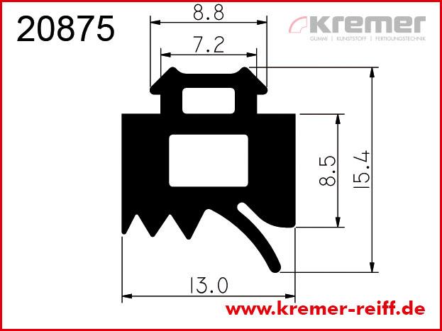 EPDM Glasauflageprofil DIN 7863-1