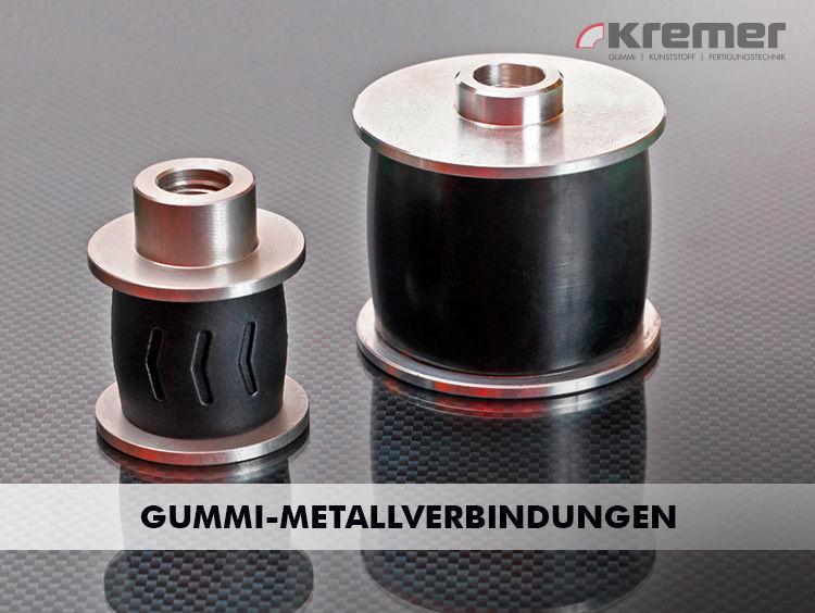 Gummi-Metall-Verbindungen können aus Kunststoff oder Metall mit Gummi produziert werden. ...mehr