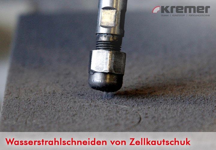 Prozess des Wasserstrahlschneidens von EPDM Zellkautschuk