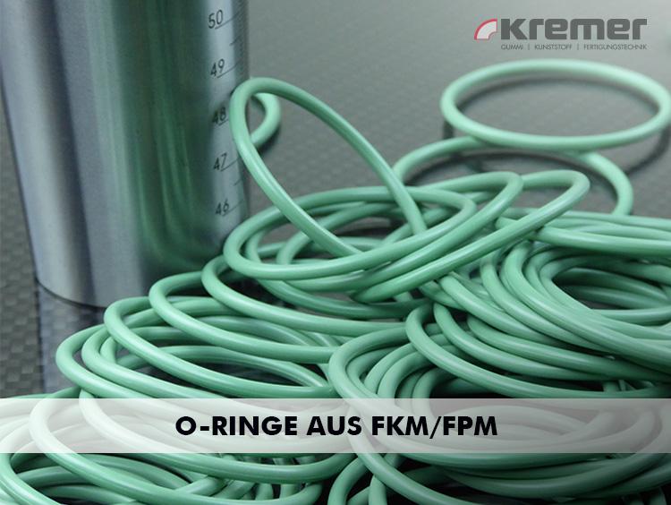 O-Ringe aus FKM weisen eine hohe thermische Beständigkeit auf ...