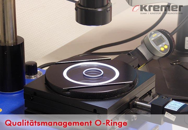 Qualitätsprüfung von O-Ringen