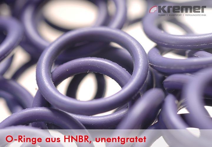 noch nicht entgratete O-Ringe aus NBR