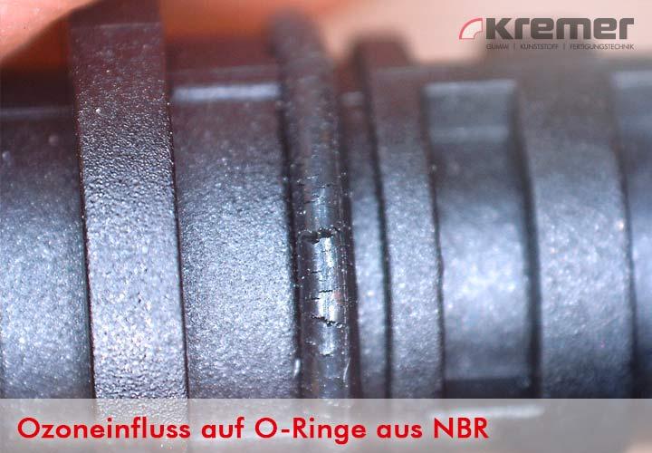 Ozon kann zur Rissbildung bei O-Ringen aus NBR führen