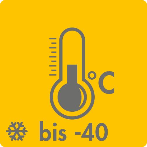 Extreme Temperaturen in Luft: bis -40°C auf Anfrage