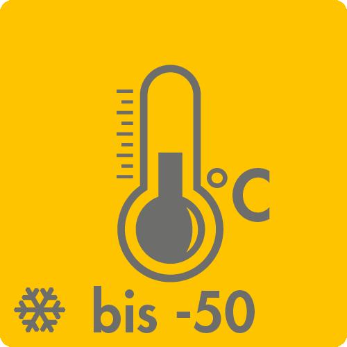 Extreme Temperaturen in Luft: bis -50°C auf Anfrage