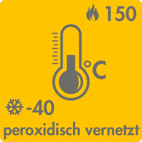Extreme Temperaturen in Luft: -40°C bis +150°C peroxidisch vernetzt