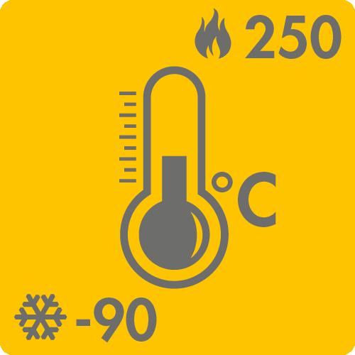 Extreme Temperaturen in Luft: -90°C bis +250°C auf Anfrage