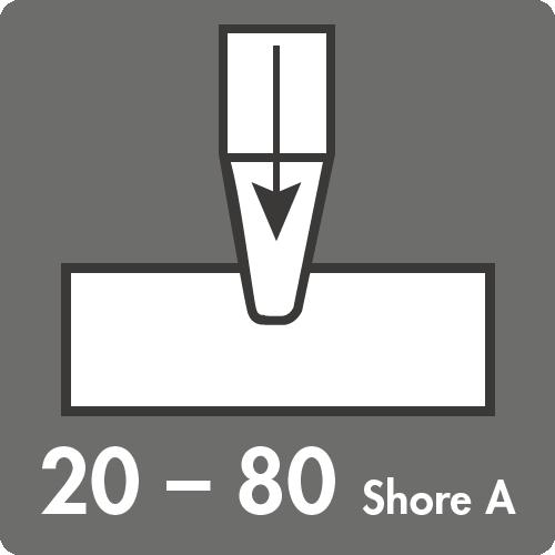 Härtebereich (Shore A): 20 bis 80