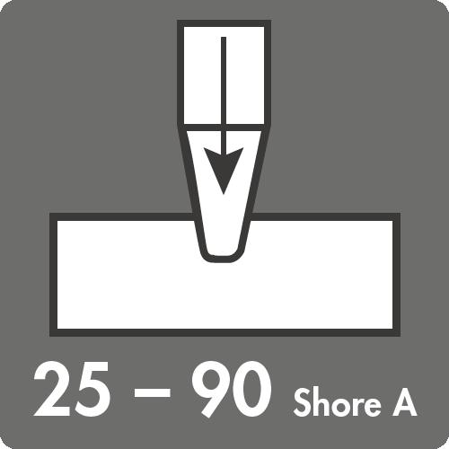 Härtebereich (Shore A): 25 bis 90